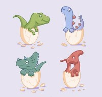 Dinosaurs broke out of the shell
