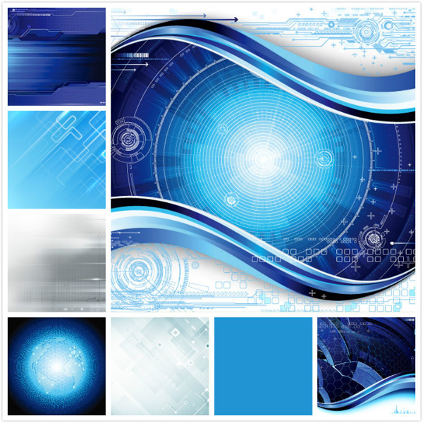 Dynamic abstract technology background