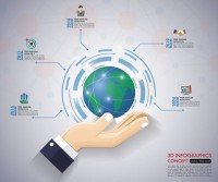 Earth business information map
