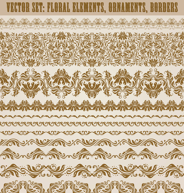 European retro pattern border