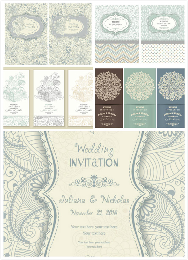 European style invitation card