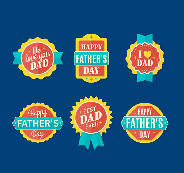 Exquisite father s Day Badge