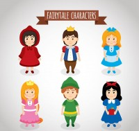 Fairy tale role vector