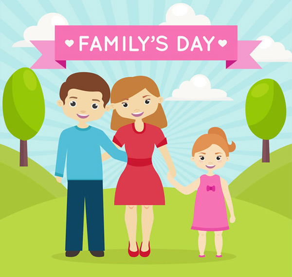 Family daily vector