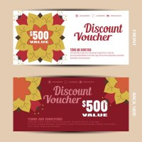 Fashion coupon vector