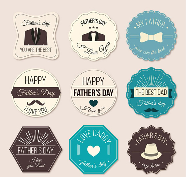 Father s Day label vector