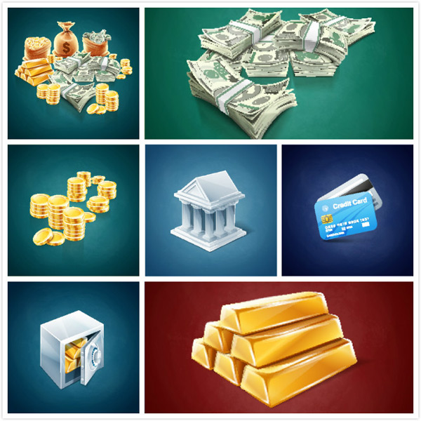 Financial currency vector