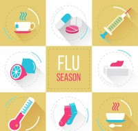 Flu season element icon