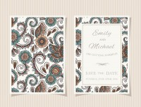 Foreign pattern invitation card