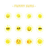 Funny sun expression