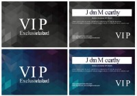 Geometric shading VIP card