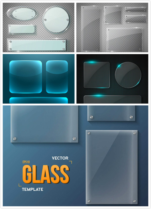 Glass molding vector