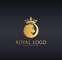 Golden crown Lion Logo