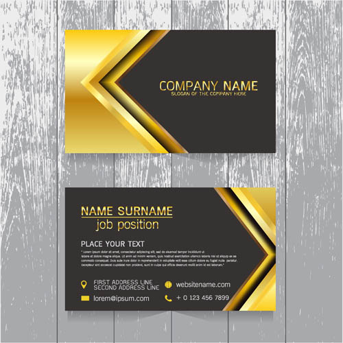 Golden honorable style card
