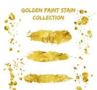 Golden ink vector