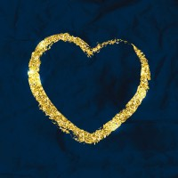 Golden love design