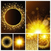 Golden particle background
