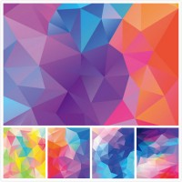 Gorgeous geometric diamond background