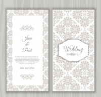 Gray diamond pattern invitation card