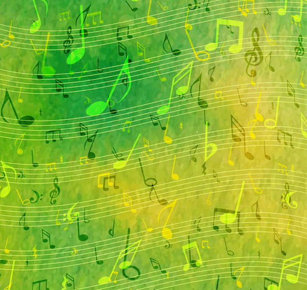 Green note background