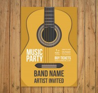 Guitar party flyer