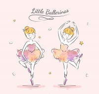 Hand drawn ballet girl