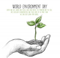 Hand painted World Environment Day