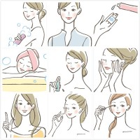 Hand painted beauty vector