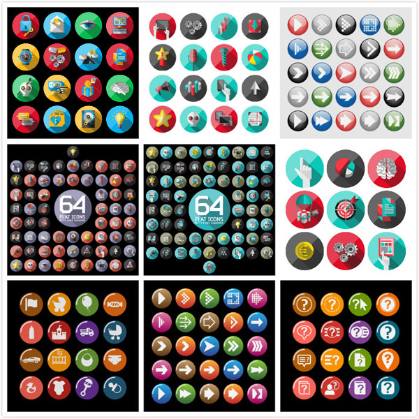 Icon vector material