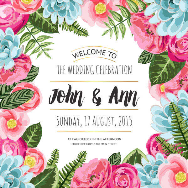 Invitation card for pastoral wedding