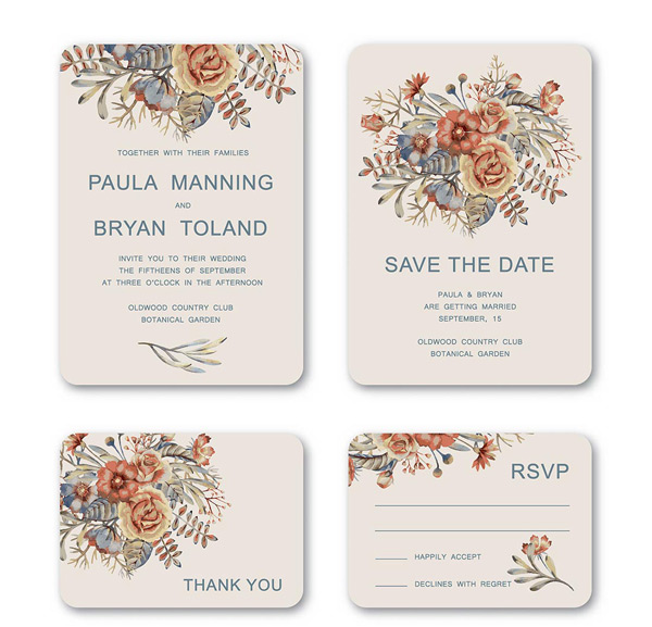 Invitation cards are shading