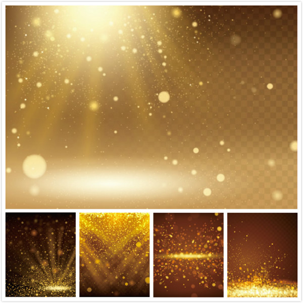 Light effect background of beam particles