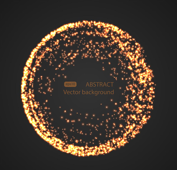 Light effect of golden round particles