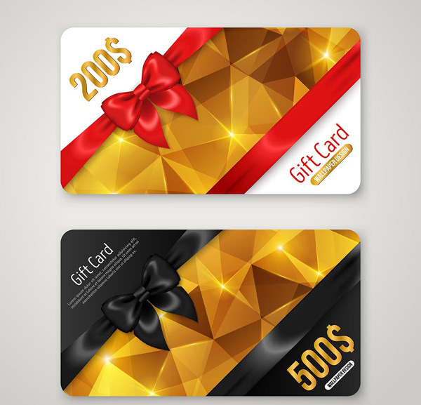 Low polygon gift cards