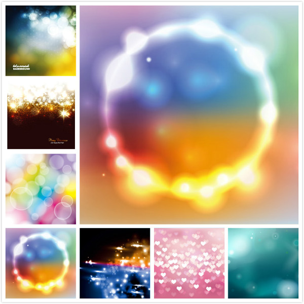 Luminous background vector