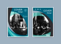 Magazine album cover vector