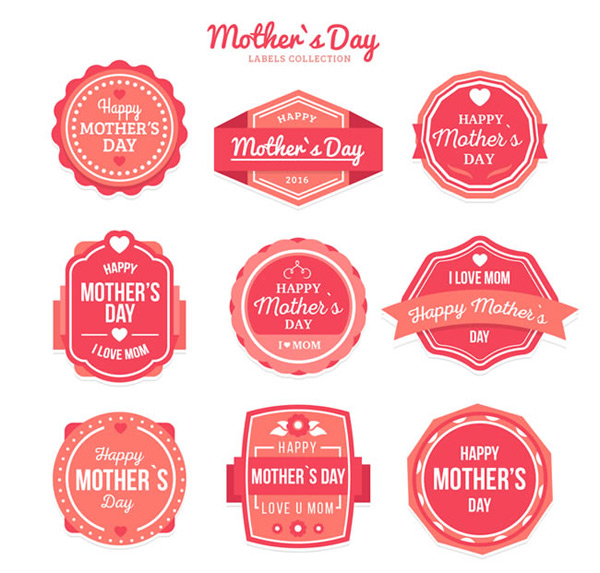 Mother s Day label vector