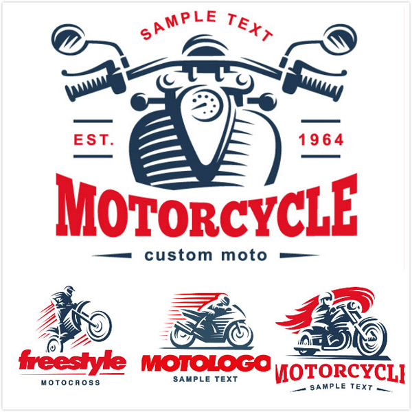 Motorcycle racing logo