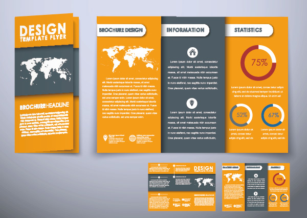 Orange Business folding template