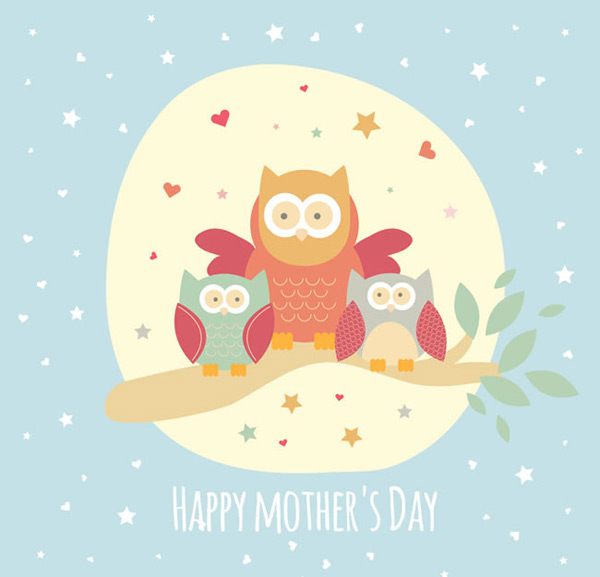 Owl mother s Day card