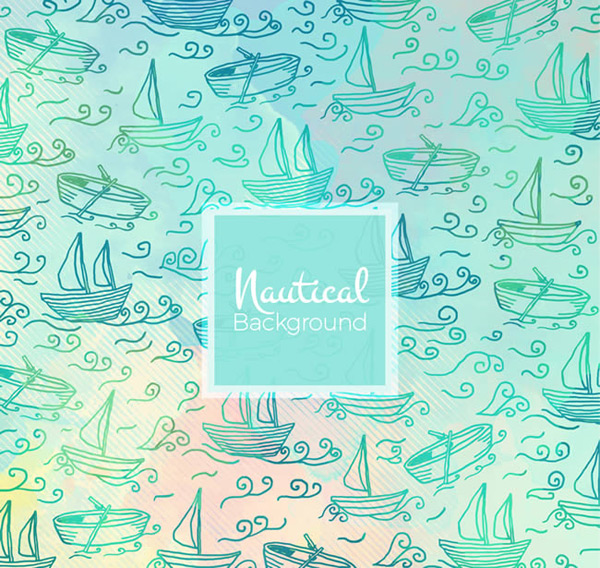 Painted sailboat background