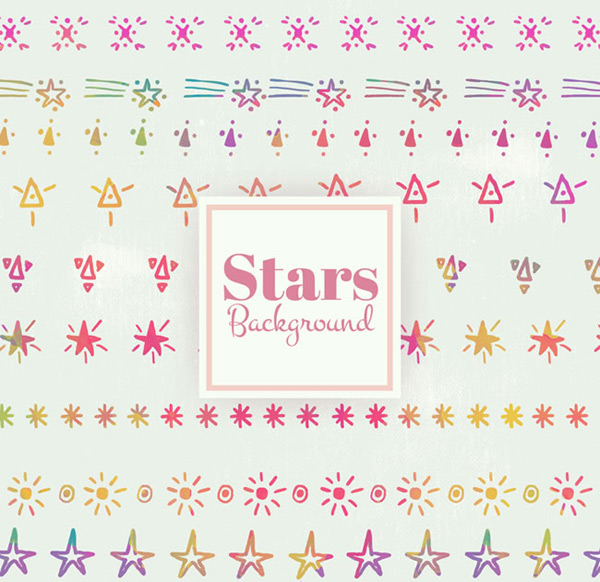 Painted star background