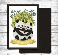 Panda lovers card