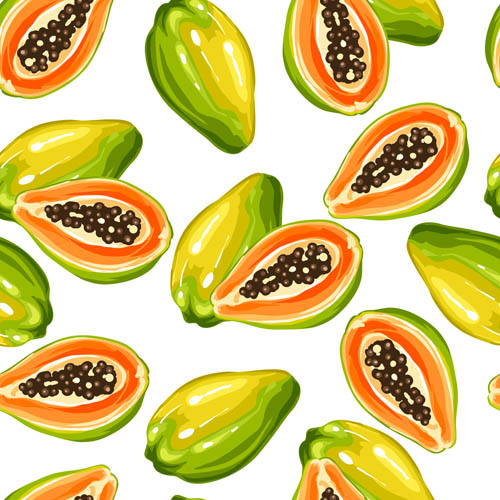 Papaya seamless background