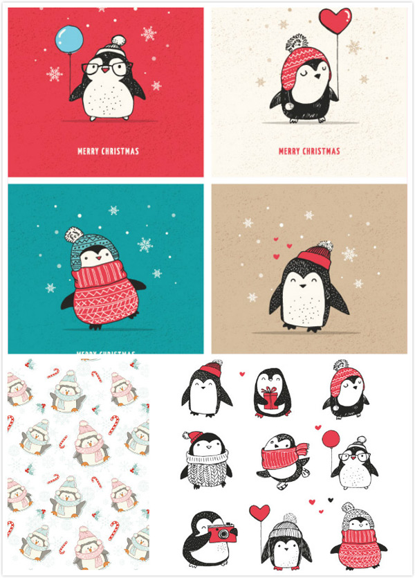 Penguin cartoon animals