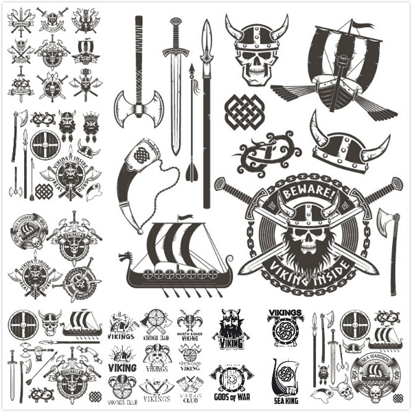 Pirate theme vector
