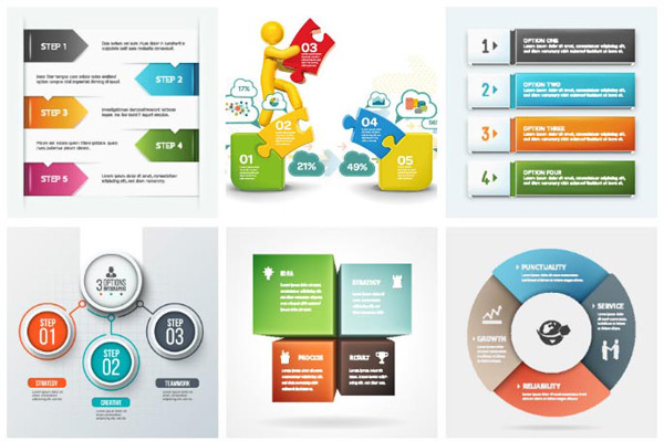 Ppt template vector