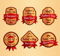 Promotional labels for father s Day