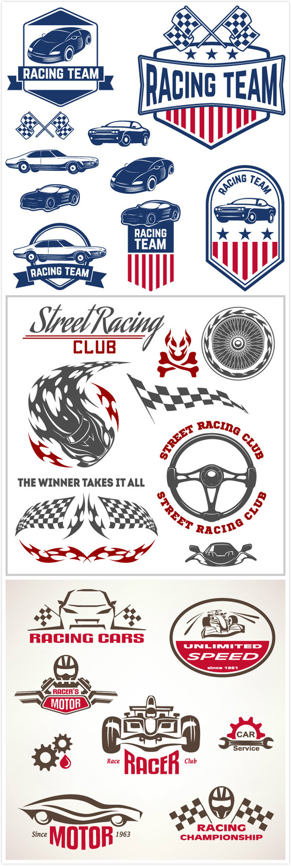 Racing tag vector