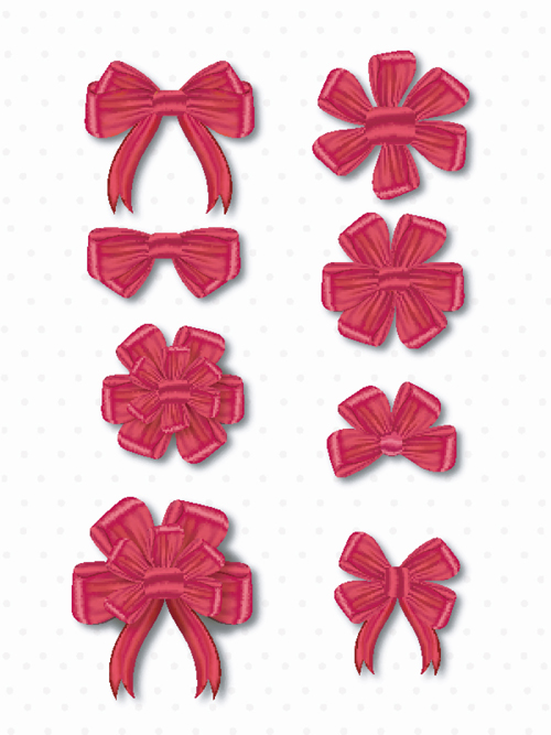 Red bow tie vector